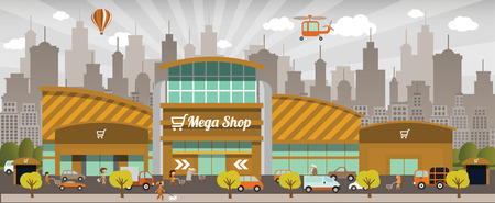 市内のショッピング