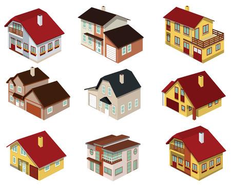 視点で都市住宅  イラスト・ベクター素材