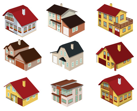 City houses in perspective