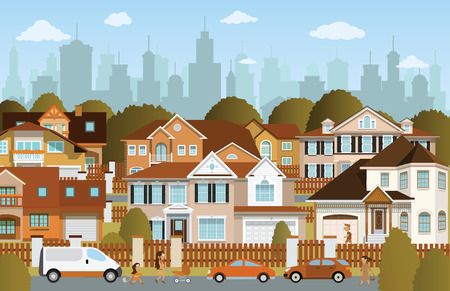 Life in the suburbs Vector