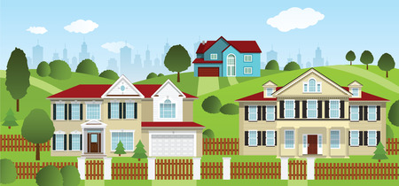 suburban street: Life in the suburbs