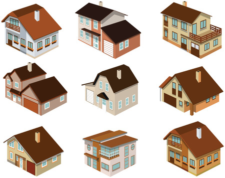 City houses in perspective Stock Vector - 27329745