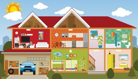Inside the house Illustration