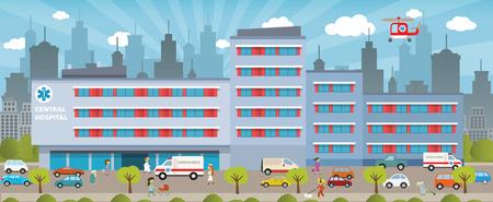 City hospital Vector