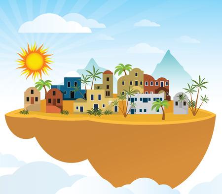 world village: Flying island  Orient