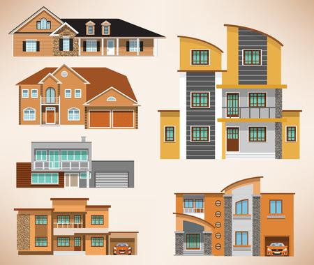 City houses Stock Vector - 27711408