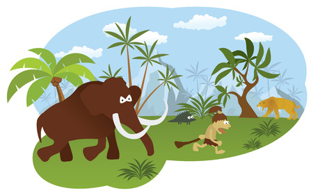 World of stone age Vector