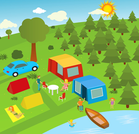 Vacation in the nature Vector