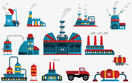 Factory icons Ilustrace