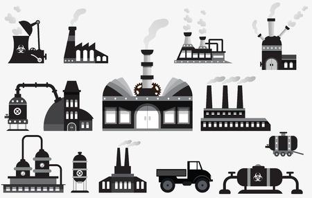 symbole chimique: icônes d'usine