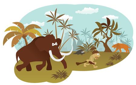 prehistoric animals: World of stone age