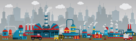 Factory in the city Vector