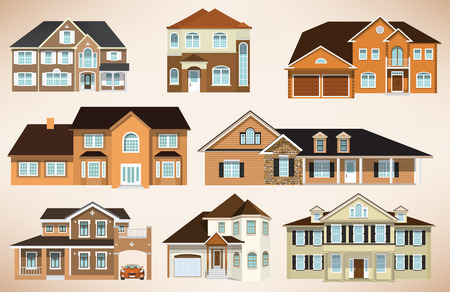 City houses Stock Vector - 28463151