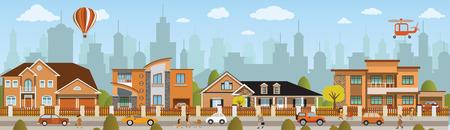 都市生活  イラスト・ベクター素材