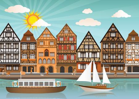 旧市街と川