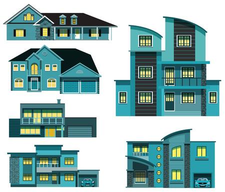 City houses Vector