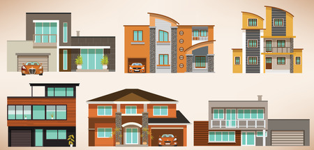 Modern city houses Vector