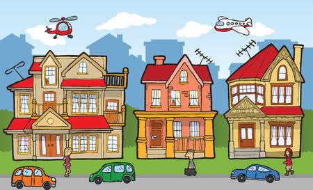 global village: Cartoon city