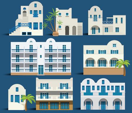 Maisons grecques Banque d'images - 29268576