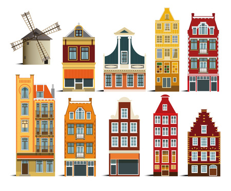Dutch houses Vector