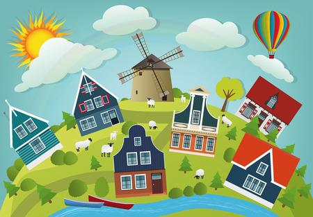 world village: Dutch countryside