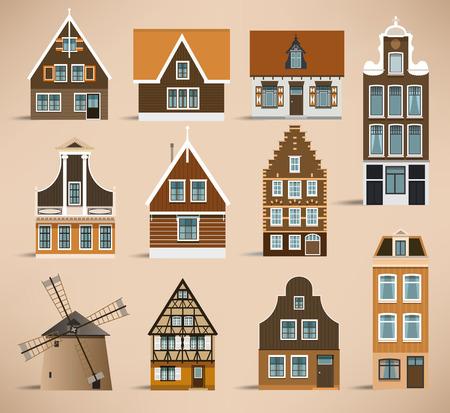 Dutch houses Vector