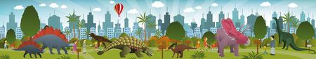 Dinosaurs park  Vector