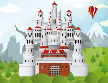 Fairytale castle Illustration