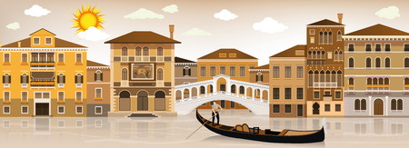 gondolier: In Venice Illustration