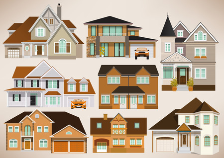 small group of object: City houses