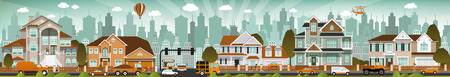 illustration of city life Vector