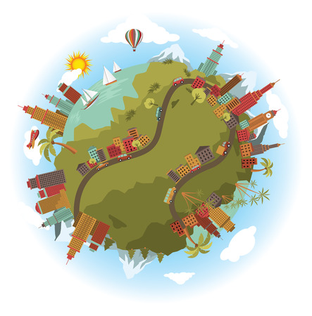 Vector illustration - around the world Vector