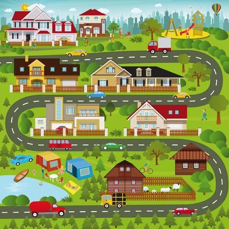 Resultado de imagen para la vida en los suburbios