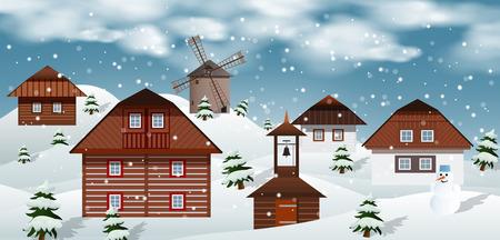 feliciter: Vector illustration of winter landscape Illustration