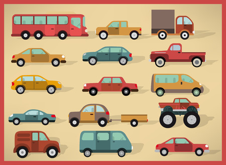 illustration collection: Vector illustration of cars collection