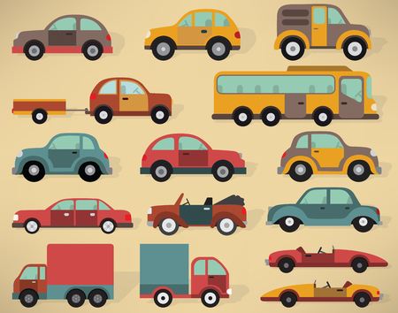 illustration collection: Vector illustration of various cars collection Illustration