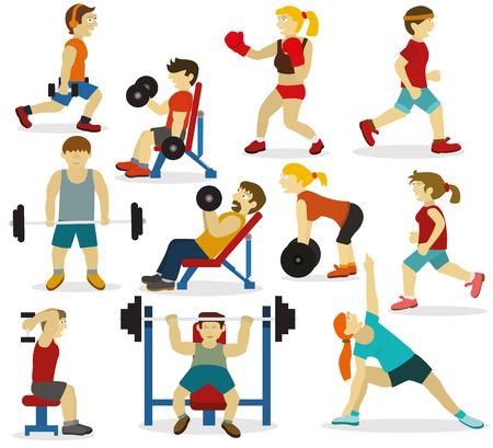 Illustration vectorielle de personnes (diverses activités sportives) Banque d'images - 64500260