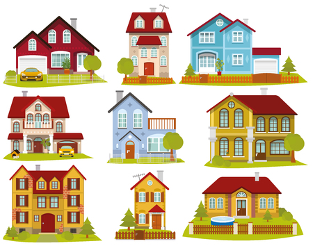 illustration collection: Vector illustration of houses collection