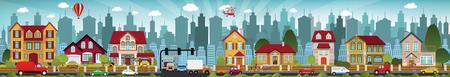 Vector illustration of city life