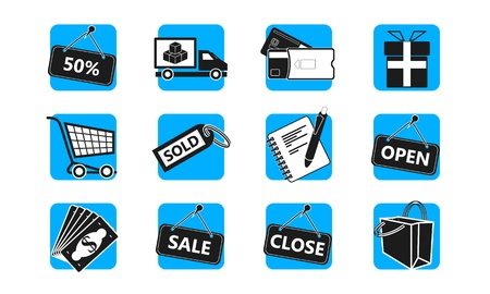 E-commerce and shopping icon set Vector