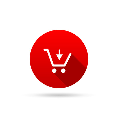 buy button: Vector shopping cart icon on a white background Illustration