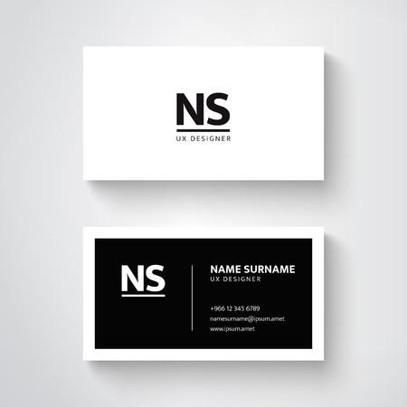 Vector simple  business card template, clean design 일러스트