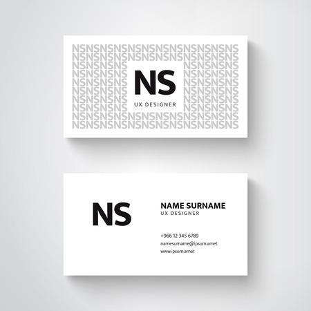 ベクトル簡単な名刺テンプレート、すっきりとしたデザイン