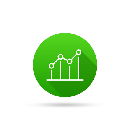 characterizing: Circle icon on a white background characterizing growing trend. Vector illustration Illustration