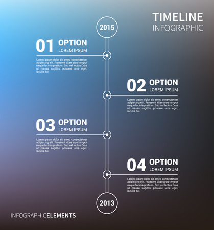 unfocused: Timeline infographic with unfocused background and report template. Vector illustration Illustration