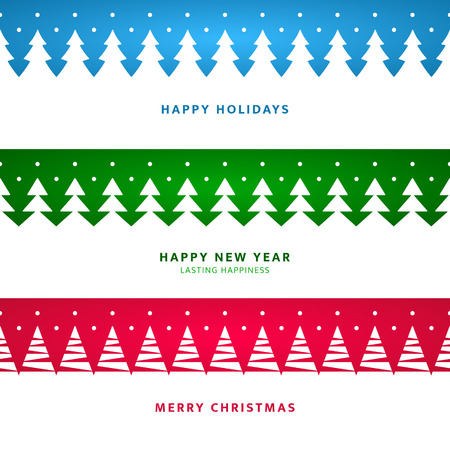 Christmas landscape with trees for banners / greetings