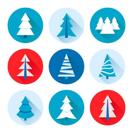 Vector set of fir trees / pines / spruces 일러스트