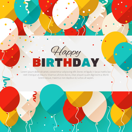 Happy Birthday. Announcement / poster / flyer / greeting card in a flat style