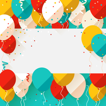 Happy Birthday announcement / poster / flyer / greeting card in a flat style