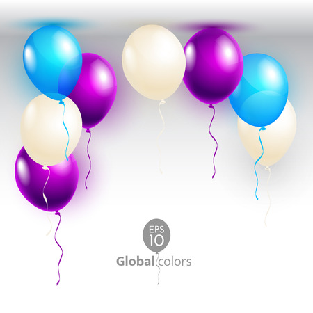 Vector illustration Happy Birthday. Announcement / poster / flyer / greeting card